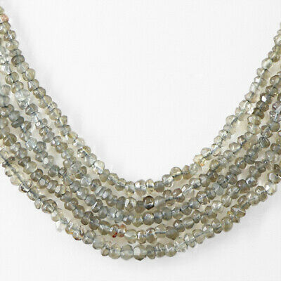 Top Class 235.00 Cts Natural 5 Line Faceted Smoky Quartz Beads Necklace (Rs) 2