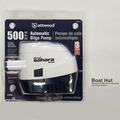 NEW Attwood Sahara Automatic Bilge Pump S500 12 volt Boating BLA131580 500GPH