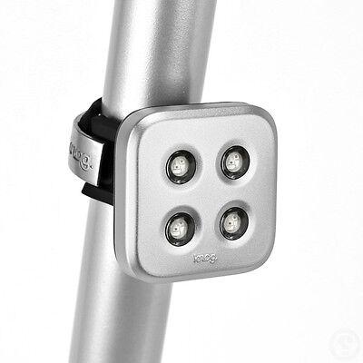 MTB Fixie Road Bike Cycle Knog Blinder Circle LED Rechargeable Rear Light Black