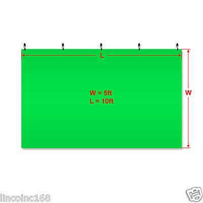 Chromakey Green Screen Muslin Backdrop for Studio Lighting Kit 2