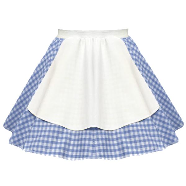 "Ladies Gingham Apron 17"" Skirt OCTOBER FEST Peasant GIRL FANCY DRESS Costume 5"
