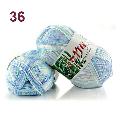 50g Soft Baby Knitting wool Natural Crochet Bamboo Cotton Hand Yarn 55 colors 7