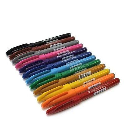 "Pentel XSES15//3 Sign Pen Brush /""touch/"" Kalligraphiestift mit flexibler Pinselspi"