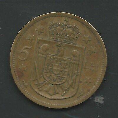 Hora KM#50 + 20 Lei Romania C112 1930 5 Lei Mihai KM#48 set of 2 coins