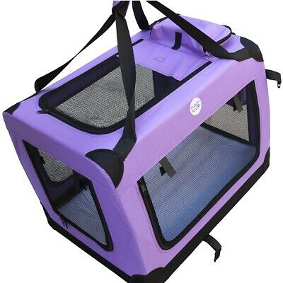 HugglePets Fabric Dog Crate Puppy Carrier - Cat Travel Cage Carry Pet Bag 4 Size 5