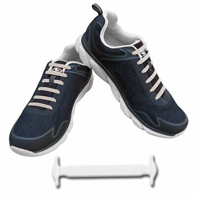 Elastic No Tie Shoelaces Silicone Easy Shoe Laces Trainers Shoes Adult Kids NEW✅ 10
