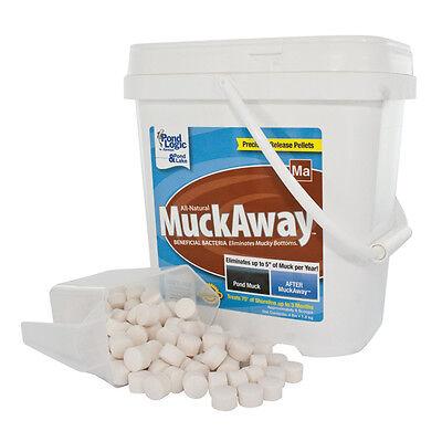 POND LOGIC 570109 MuckAway Pellets 8 lbs-16 scoops-reduce sludge-safe-water