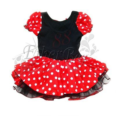m dchen minnie mickey mouse maus kost m ballettkleid party. Black Bedroom Furniture Sets. Home Design Ideas