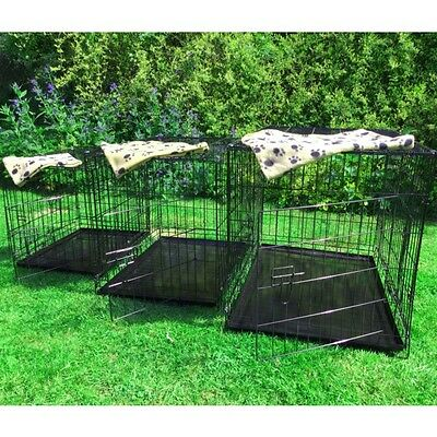 Small Medium Large XL XXL Pet Dog Cage Crate Foldable Carry Transport Carrier 3