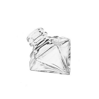 12 Mini Glasflaschen Flasche in Diamant Form mit Korken 15 ml inkl. Trichter 4