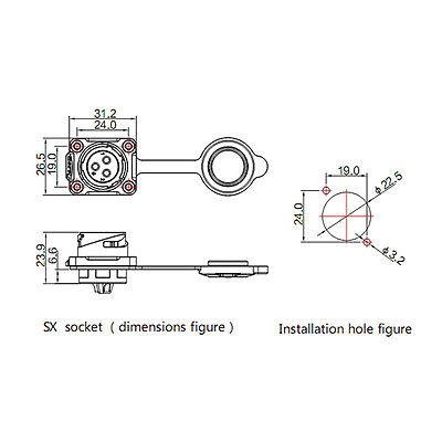 2 Pin Power Connector Male Plug & Female Socket Waterproof Outdoor IP67 AC / DC