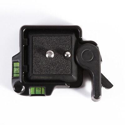 Clamp & Quick Release QR Plate For Tripod Monopod Ball Head Benro DSLR Camera 3