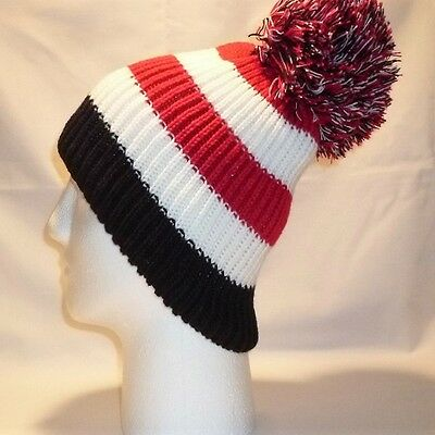 Luxury Bobble Hat Beanie Pom Childrens Boys Girls Kids Retro Football Winter 3