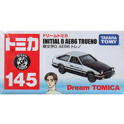 Japan Takara Tomy Dream Tomica 145 Initial D Toyota AE86 Trueno Toy Car FS