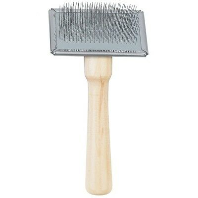 Ancol Ergo Dog Grooming Wooden Bristle Brush Double Sided Wood Handle Slicker 4