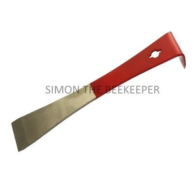 Beekeepers Stainless Steel Hive Tool and Natural Bristle Bee Brush