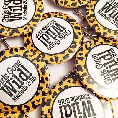 Custom Badges Personalised Wedding Stag Hen Bespoke Birthday Badge 25mm 38mm 59 8
