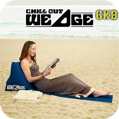 Chill Wedge Inflatable Beach Chair Festival Camping Lounger Seat Cushion L0G9