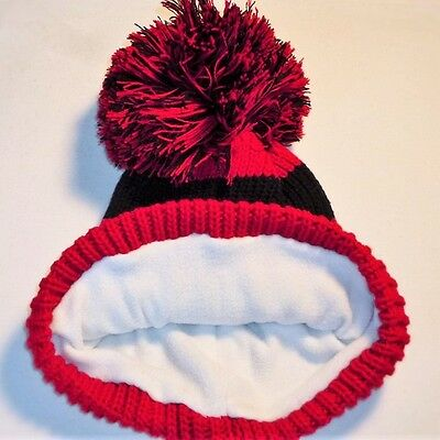 Luxury Fleece Lined Bobble Hat Beanie Mens Women Retro Football Winter Warm Pom 12