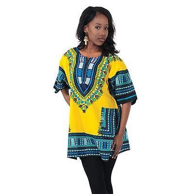 Dashiki Africano Festival Hippie Poncho Messicano Maglietta Kaftano T-Shirt 6