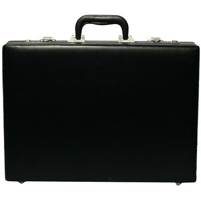 Professional Mens Leather Executive Black Briefcase with Combination Locks 6