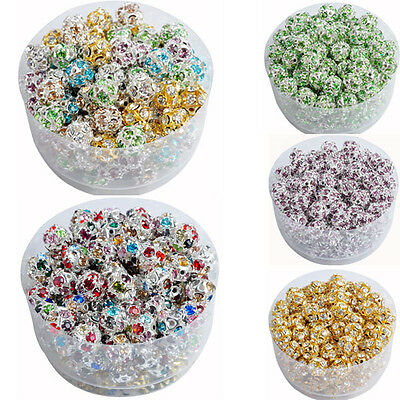 1 of 2FREE Shipping 10 Pcs Austria Crystal Spacer Loose Beads Charms DIY  Jewelry 6 8 10 mm 48f9b2456485