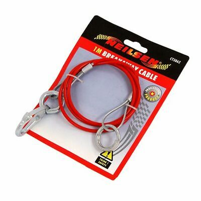 Trailer Caravan Breakaway Brake Safety Cable With Clevis Pin 2