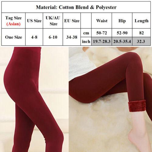 Women Winter Thermal Thick Fleece Skinny Slim Fit Leggings Stretch Pants Trouser 6