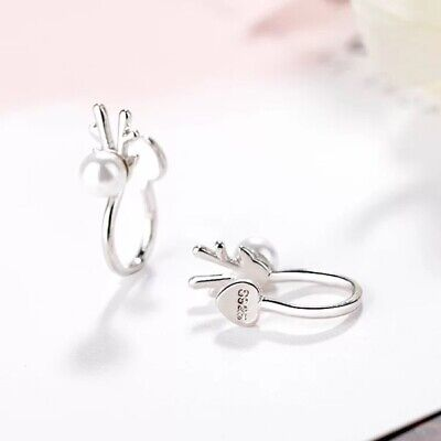 Womens Ear Cuff Earrings Wrap Fashion Clip On Punk Rock Cuffs Fake Stud Silver 11