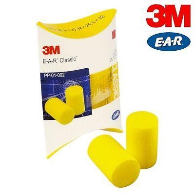 500 tappi per orecchie 3M anti rumore 250 coppie EAR CLASSIC lavoro studio 28 dB 2