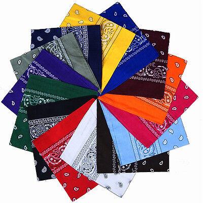 55*55cm Square Paisley Scarf Bandana Cotton Head Wrap Wristband Handkerchief 4
