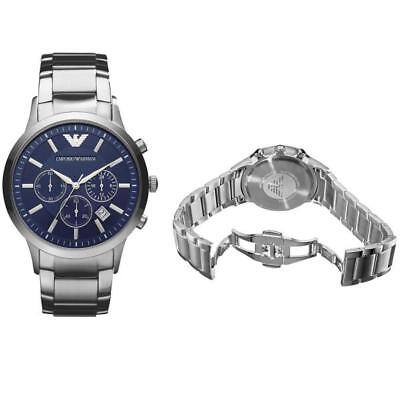 Emporio Armani Classic Stainless Steel Watch - Blue Chronograph - Men's AR2448 2