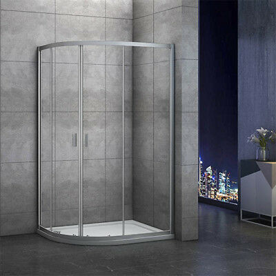 1000x800mm Quadrant Shower Enclosure and Stone Tray Corner Cubical Glass Left 3