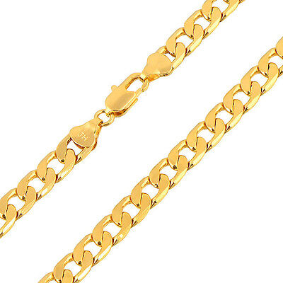 Arab Fashion 18K Yellow Gold Filled Mens Cuban Link Chain Necklace,24 Inches 2
