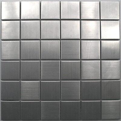 Muster edelstahl mosaik fliesen silber 48x48x8mm eur 1 90 picclick de - Mosaikfliesen silber ...