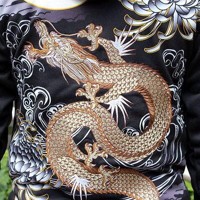 Mens Hoodie Japanese Pattern Embroidery Hooded Sweatshirt Jacket Totem Carp Fish