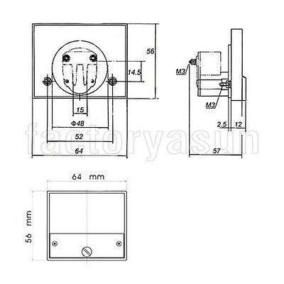 DC 500V Analog Panel Volt Voltage Meter Voltmeter Gauge 85C1 0-500V DC White 8