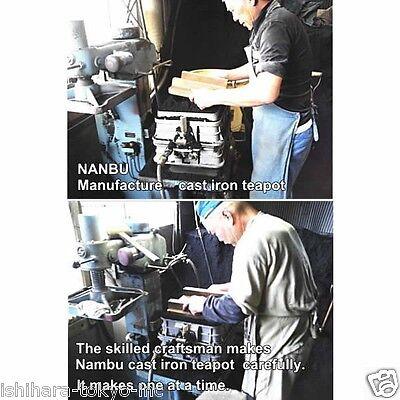 [Rare] Nanbu Tetsubin - Miyabi (S) - 0.6 Liter : Japanese blue cast iron teapot 9