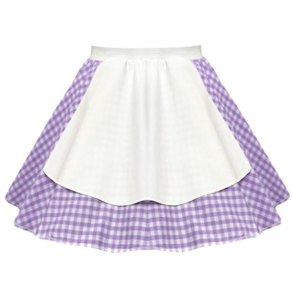 "Ladies Gingham Apron 17"" Skirt OCTOBER FEST Peasant GIRL FANCY DRESS Costume 3"