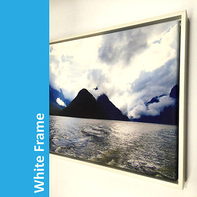Personalised Photo on Canvas Print with Wooden Floating Frame A1 A2 A3 A4 8