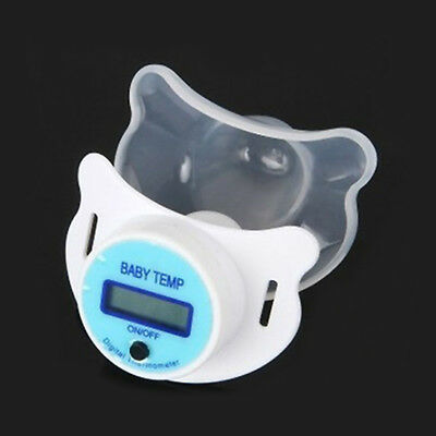 Safe Practical Mouth Nipple Temperature Baby LCD Digita Pacifier Thermometer