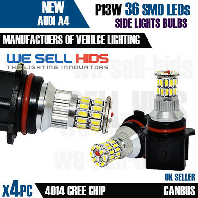 A4 Bright 36 Leds B8 Drl 4 Daytime Smd X Running White P13w Audi Lights Kit Y7gbf6y