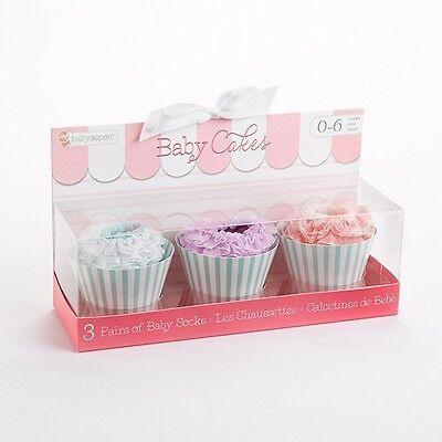 Baby Socks Gift Box Cupcake 6 Pairs