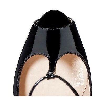 f549774e28d CHRISTIAN LOUBOUTIN BLACK Burlina 120 Peep Toe Pumps Shoes 40