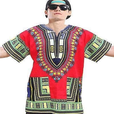 Dashiki Africano Festival Hippie Poncho Messicano Maglietta Kaftano T-Shirt 7