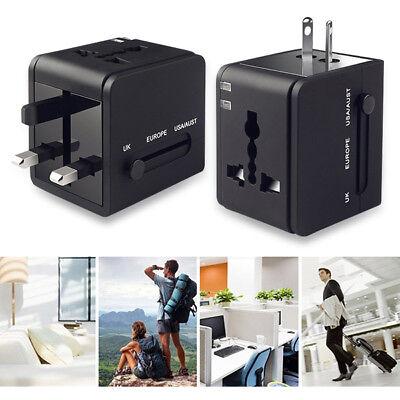 Universal International Travel Adapter 2 USB Power Plug Charger Converter Socket 9