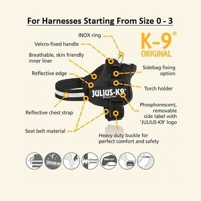 Julius K9® Strong Adjustable Power Harness Reflective Dog Puppy Robust Harnesses 10