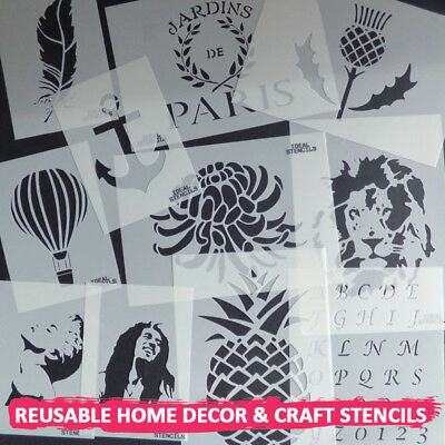Leopard Face Stencil Home Decor paint Walls Fabric Furniture Reusable Stencils