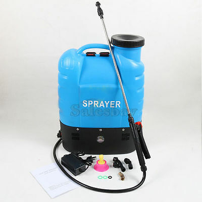 12V 16L Electric Weed Sprayer Rechargeable Backpack Farm Garden Pump Spray 2