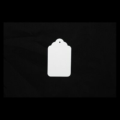 White UnStrung String Kraft Tags Swing Price Tickets Jewellery Labels 2
